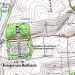 Le cimetière américain de Romagne-sous-Montfaucon (55) dans GUERRE 1914 - 1918 carteromagne-150x150