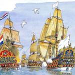 Le 10 juillet 1690 - La bataille de Beachy Head, ou la bataille du cap Bévéziers dans EPHEMERIDE MILITAIRE la-bataille-du-cap-Bévéziers-150x150