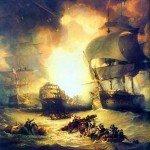 Le 1er août 1798 – La bataille d'Aboukir dans EPHEMERIDE MILITAIRE Bataille-navale-dAboukir-1798-150x150