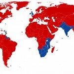 Pourquoi les anglais roulent à gauche dans LE SAVIEZ-VOUS ? Carte-du-monde-150x150
