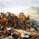 Kaboul, janvier 1842 : La catastrophique retraite britannique dans PAGES D'HISTOIRE le-dernier-carre-du-44e-regiment-of-a-gandamak-150x150