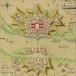 Le 5 février 1797 – La reddition de la tête de pont d'Huningue dans EPHEMERIDE MILITAIRE plan-de-la-ville-dhuningue-150x150