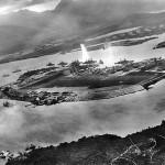 Vue aérienne de l'attaque de Pearl Harbour