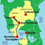 Itinéraire de la marche de la mort de Bataan