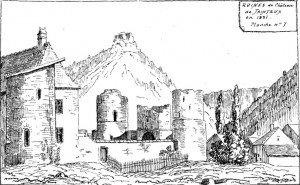 Ruines château de Taintrux 1831